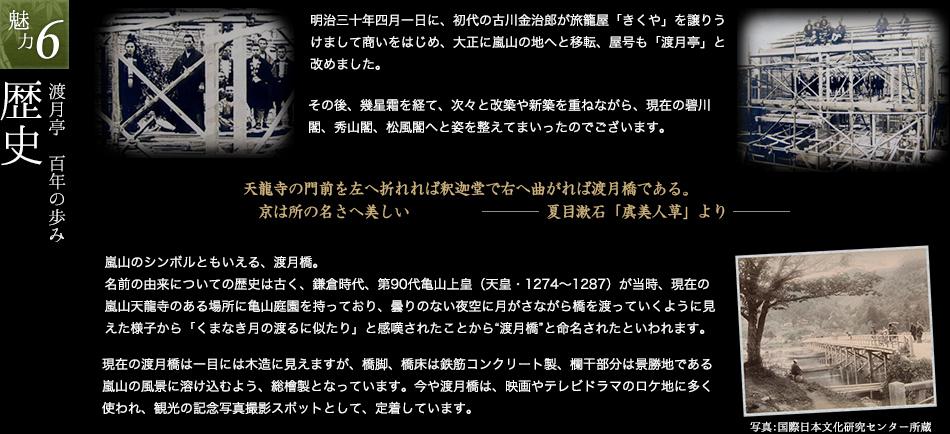 渡月亭 百年の歩み 歴史